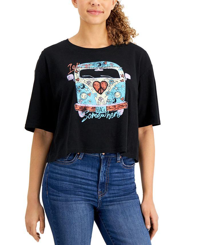 Self Esteem - Juniors' Cotton Cropped Retro-Graphic T-Shirt