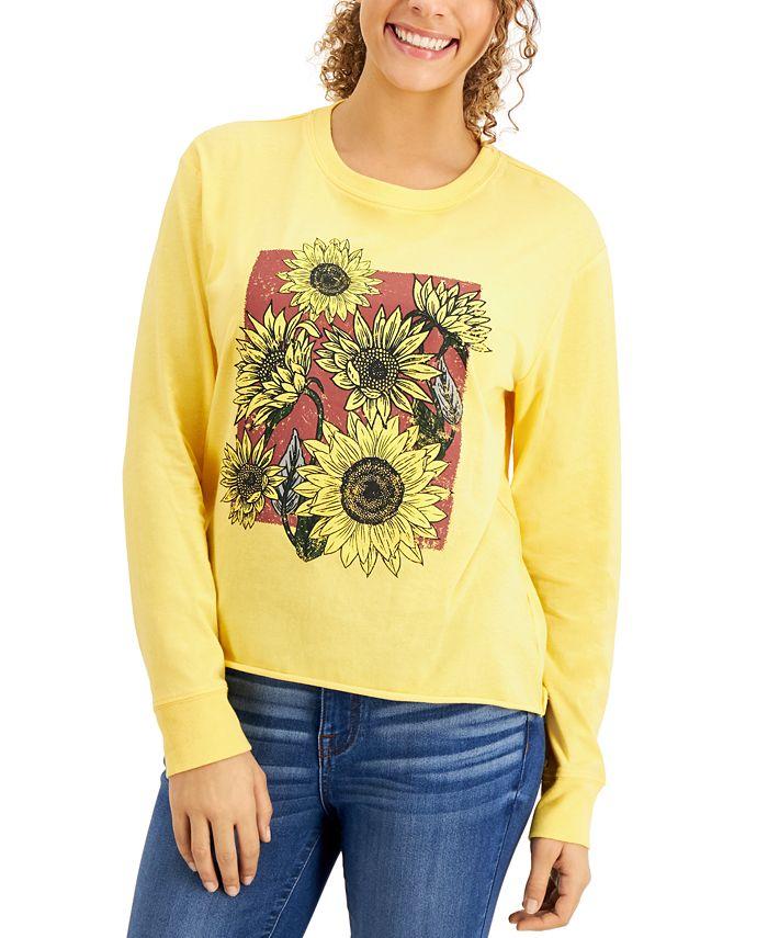 Self Esteem - Juniors' Sunflower-Graphic T-Shirt