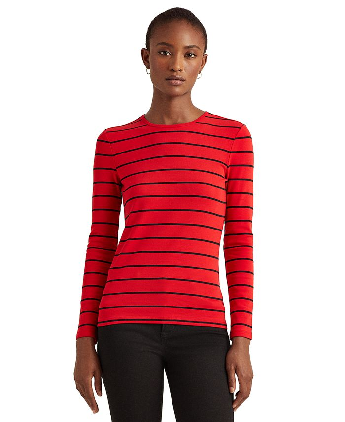 Lauren Ralph Lauren - Striped Cotton-Blend Top