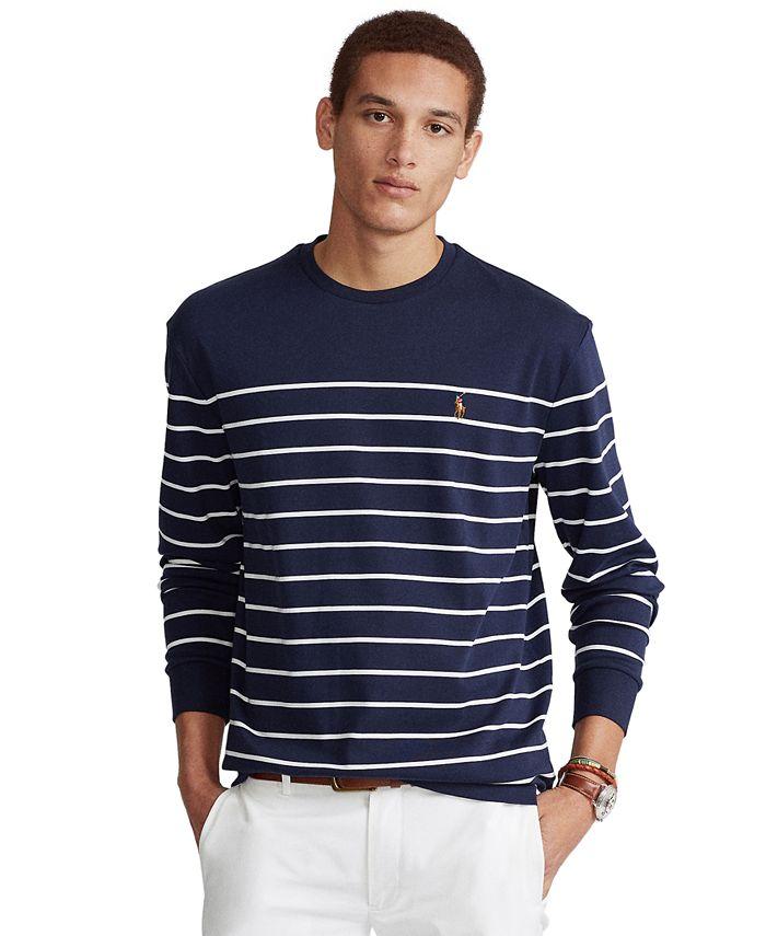Polo Ralph Lauren Men's Classic-Fit Striped Soft Cotton T-Shirt ...