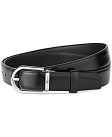 Montblanc Men's Horseshoe-Buckle Leather Belt