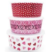 Martha Stewart Valentines Day Food Storage Containers Set of 3 Deals
