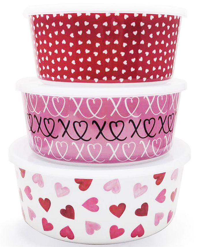 Martha Stewart Collection - Valentine's Day Melamine Nesting Food Storage Containers