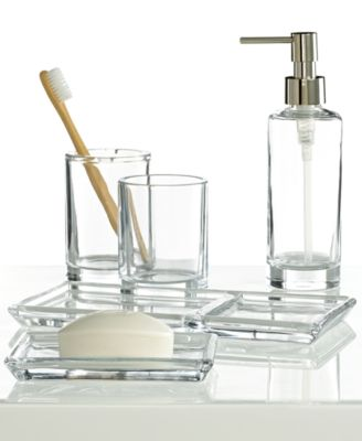 Hotel Collection Glass Toothbrush Holder, Only at Macy's