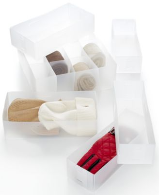 Whitmor Set of 6 Frosty White Drawer Organizers