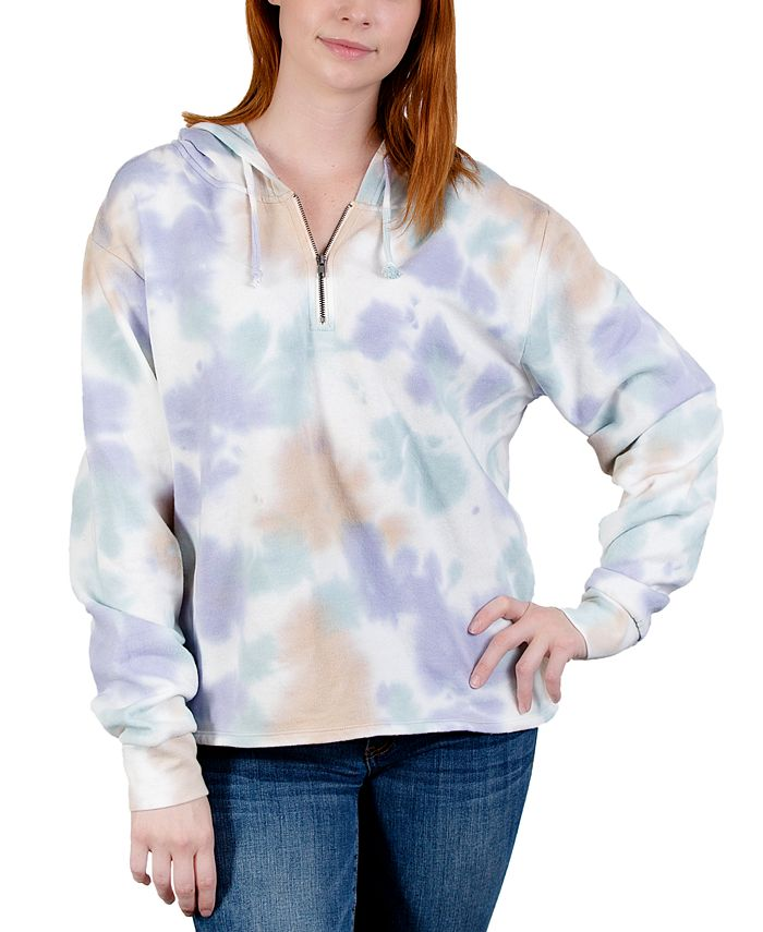 Rebellious One - Juniors' Plus Size Tie-Dyed Hoodie