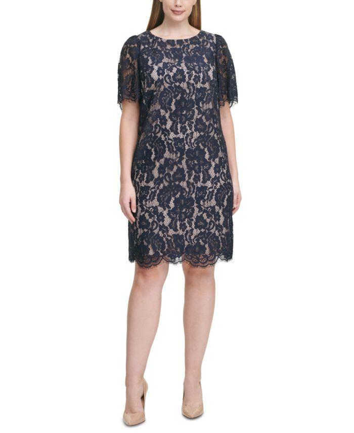Jessica Howard Plus Size Lace Sheath Dress & Reviews - Dresses - Plus Sizes - Macy's