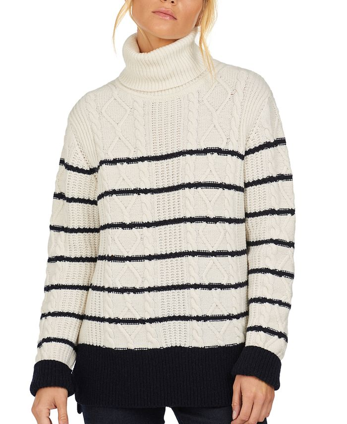 Barbour - Longshore Striped Cable-Knit Sweater