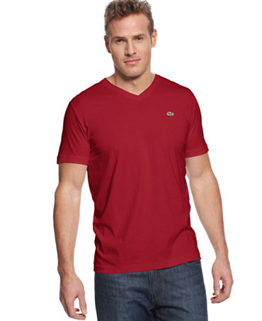 Lacoste big and tall shirt v neck t shirt t shirts for Tall v neck t shirts