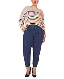 Black Tape Plus Size Striped Sweater