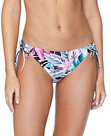 Raisins Juniors' Haute Bloom Printed Tie-Side Bikini Bottoms