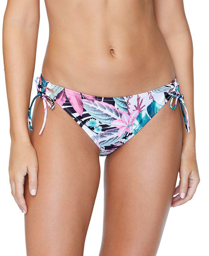 Raisins - Juniors'Eco-Capsule Haute Bloom Printed Tie-Side Bikini Bottoms