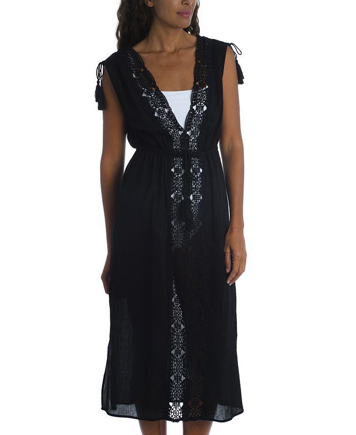 La Blanca - Embroidered Island Fare Midi Cover-Up Dress