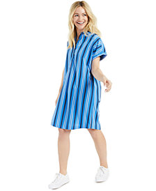 Style & Co Cotton Striped Shirtdress, Created for Macy's
