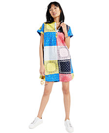Style & Co Cotton Patchwork Shirtdress, Created for Macy's