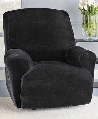 Sure Fit Stretch Plush 1-Piece Recliner Slipcover