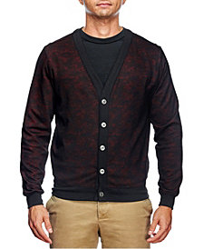Tallia Men's Slim Fit Cardigan and a Free Face Mask
