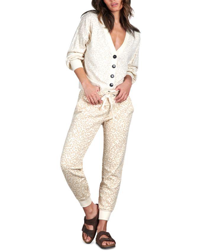 Sanctuary Barely Leopard V-Neck Cardigan & Reviews - Sweaters - Women - Macy's
