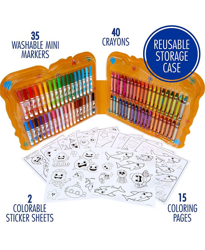 Crayola Baby Shark Art Set 90 Pieces Gift For Kids 4 5 6 7 Reviews Home Macy S