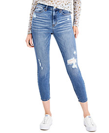 Celebrity Pink Juniors' High-Rise Skinny Ankle Jeans