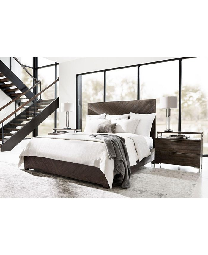 Furniture - Logan Square Bedroom 3-Pc. Set (Queen Bed, Dresser & Nightstand) , By Bernhardt