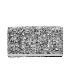 La Regale Mini Pleated Metallic Faux Leather Crossbody