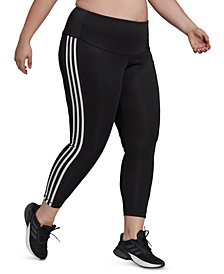 adidas Plus-Size Designed 2 Move High-Rise 3-Stripes 7/8 Sport Tights