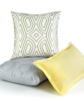 """Hotel Collection Lancet 18"""" Square Decorative Pillow"""