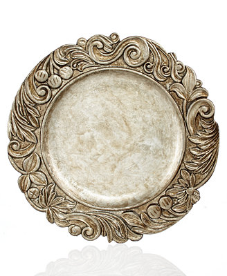 Sale alerts for  Jay Imports Chargers, Silver Wood Textured Charger Plate - Covvet