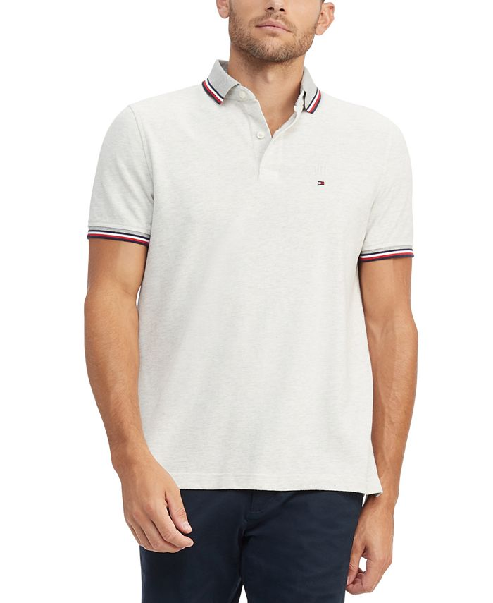 Tommy Hilfiger Men's Tipped Polo Shirt & Reviews - Polos - Men ...