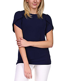 Michael Michael Kors Tulip-Sleeve Knit Top, Regular & Petite Sizes
