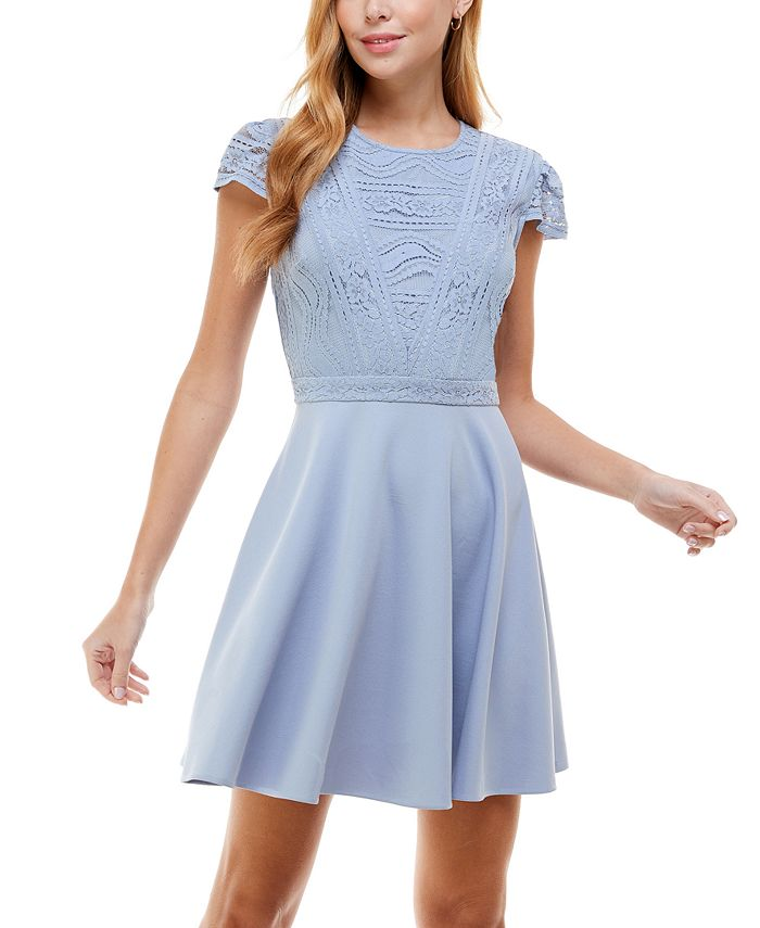 City Studios - Juniors' Lace-Top Dress