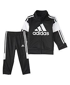 Adidas Toddler Boys Zip Front Bold Pack Jacket and Pant Set