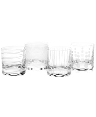 Clear Cheers Double Old Fashioned Glasses, Set Of 4