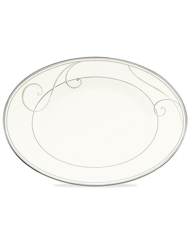 Noritake Dinnerware, Platinum Wave Oval Platter