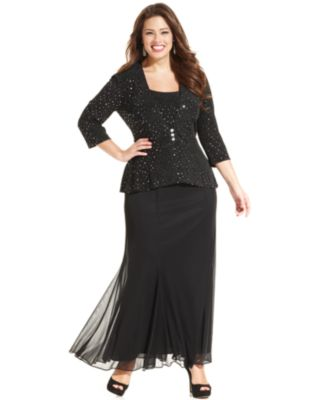 m&s plus length maxi attire