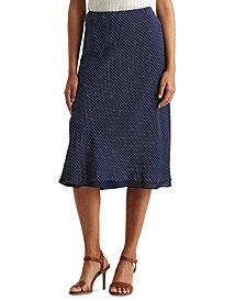 Lauren Ralph Lauren Silk Crepe Skirt