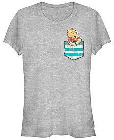 Juniors Winnie the Pooh Pocket Winnie Cowl Neck T-shirt