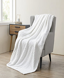 VCNY Home Bethany Sculpted Braid Sherpa Throw Blanket