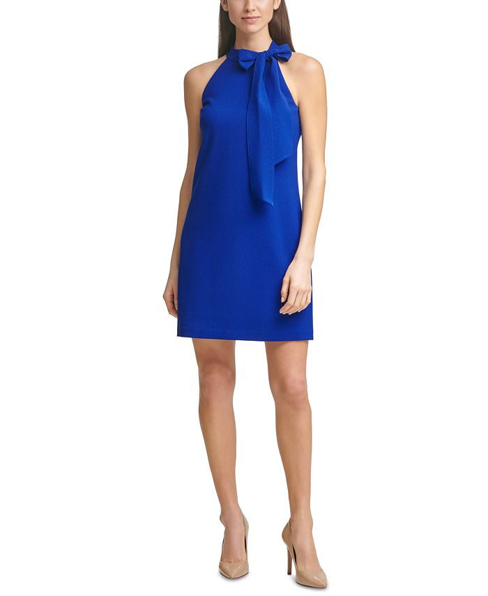 Vince Camuto - Bow-Neck Halter Dress