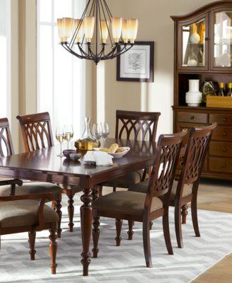 Metropolitan 6-Piece Dining Set with Bench, Black ...