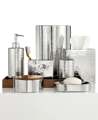 Hotel Collection Polished Hammered Metal Toothbrush Holder, Only at Macy's