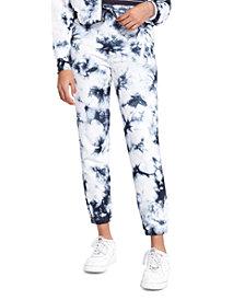 Sundown By Splendid Juniors' Playa Tie-Dyed Jogger Pants