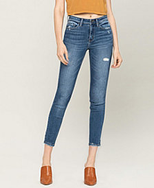 Women's Mid Rise Distressed Ankle Skinny Jeans