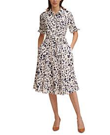 Calvin Klein Floral-Print Shirtdress