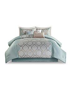 Madison Park Mariella Queen Jacquard Comforter, Set of 7