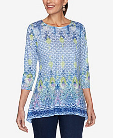 Ruby Rd. Plus Size Knit Provencal Top