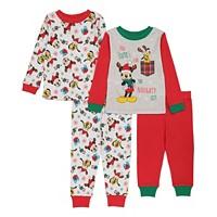 AME Mickey Mouse Toddler Boy 4-Piece Pajama Set