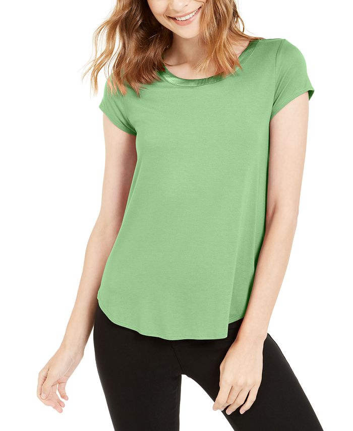 Alfani - Petite Short-Sleeve High-Low Tee