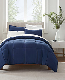 Serta Simply Clean Antimicrobial King Comforter Set, 3 Piece